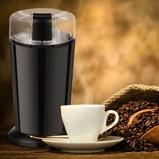 Immagine diCostway 150W Macinacaffè elettrico con lame in acciaio Inox 12x10x18cm Nero
