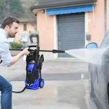 Immagine diCostway 2000W Idropulitrice elettrica portatile 2030 PSI 6 0 L/Min con ugello ad alta pressione per la pulizia di giardini auto e case Blu