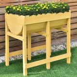 Immagine diFioriera rialzata in legno di abete con 2 scomparti Cassetta per coltivazione piante e fiori 70x45x72cm