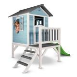 Afbeelding vanSunny Lodge Speelhuis XL met Glijbaan Blauw