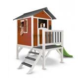 Afbeelding vanSunny Lodge Speelhuis XL met Glijbaan Rood