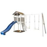 Afbeelding vanSunny Beach Tower Speeltoestel met Duoschommel Grijs/Wit