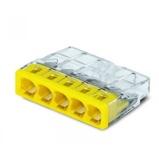 Afbeelding vanWago 2273-205 Lasklem 5-voudig transparant geel