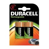 Afbeelding vanBatterij oplaadbaar Duracell 2xC 3000mAh Plus Oplaadbare Batterijen