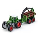 Afbeelding vanSiku 1645 Fendt Tractor met Bos Aanhangwagen 1:87