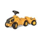 Afbeelding vanRolly Toys Minitrac Volvo Looptractor met Aanhanger Tractor geel