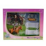 Afbeelding vanKids Globe Speelset 2 paarden met ruiters 1:24 kunststof 640072