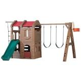 Afbeelding vanStep2 speeltoestel Adventure Lodge Play Center 373 cm bruin