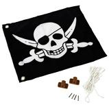 Afbeelding vanAXI Piratenvlag zwart wit 55x45 cm A507.012.00