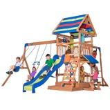 Afbeelding vanGartentiger Backyard Discovery speelhuis Northbook 430 x 439 300 cm blank