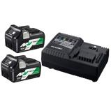 Afbeelding vanHiKOKI UC18YSL3 Multi Volt Batterijpack Met 2 Batterijen & Snellader