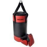 Afbeelding vanAngel Sports Bokszak met Handschoenen Zwart/Rood