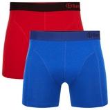 Afbeelding vanBamboo Basics Boxershort Levi 2 Pack Rood En Blauw Maat L