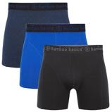 Afbeelding vanBamboo Basics Boxershort Rico 3 Pack Zwart, Navy En Blauw Maat L