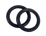 Afbeelding vanQHP Set Elastische ringen voor veiligeheidsbeugels zwart ONESIZE