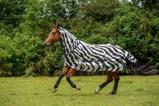 Afbeelding vanBucas Buzz Off Full Neck Zebra Paardendekens 125/168cm