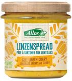 Afbeelding vanAllos Linzenspread Gele Linzen Curry 140GR