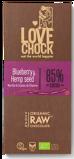 Afbeelding vanLovechock Blueberry Hempseed, 70 gram