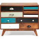 Afbeelding vanKave Home Collin Tv meubel Bruin/Multicolor