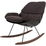 Afbeelding vanWANTS&NEEDS Schommel stoel Rocky donker grijs 84 x 76 98
