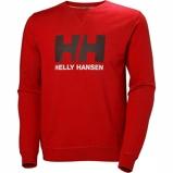 Afbeelding vanHelly Hansen HH Logo Crew Sweater Heren Flag Red M Katoen,Polyester Heren
