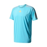 Afbeelding vanAdidas Barricade Tee Tennisshirt Heren Samba Blue Glow Orange S Heren