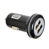 Afbeelding vanCarpoint autolader USB dubbel 12/24 Volt 2,4 Ampère zwart