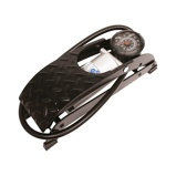 Afbeelding vanCarpoint voetpomp met manometer 7 bar staal zwart