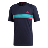 Afbeelding vanAdidas Club Color Block Tennisshirt Heren Legend Ink M Heren