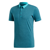 Afbeelding vanAdidas Heathered Tennispolo Heren Hi res Aqua S Heren