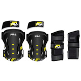 Afbeelding vanFila Skate Protection 3 Pack Junior Zwart Geel XXS