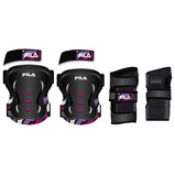 Afbeelding vanFila Skate Protection 3 Pack Junior Zwart Roze XXS