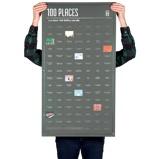 Afbeelding vanDOIY Bucket List Poster 100 Places You Must Visit Before Die