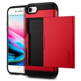 Afbeelding vanApple iPhone SE 2020 / 8 7 Hoesje Spigen Rood Backcover Extreme case