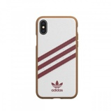 Afbeelding vanadidas OR Moulded case PU SS19 for iPhone X/Xs white/collegiate burgundy