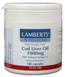 Afbeelding vanLamberts Levertraan (cod liver oil) 1000 mg 180 capsules