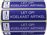 Afbeelding vanSpruyt Hillen Sticker Let Op Koelkast Artikel, 500 stuks