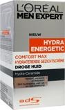 Afbeelding vanL'Oréal Men Expert Hydra Energetic Comfort Max Droge Huid creme 50 ml