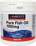 Afbeelding vanLamberts Pure visolie 1100 mg omega 3 (180 capsules)