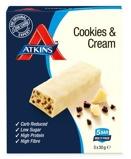 Afbeelding vanAtkins Cookies & Cream Reep 30 gram, 5x30 gram