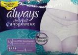 Afbeelding vanAlways Discreet Maandvervand Pants L, 10 stuks