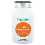Afbeelding vanVitOrtho NAC N Acetyl Cysteine 500Mg (60Cap) OVO7031