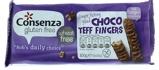 Afbeelding vanConsenza Choco teff fingers (100 gram)