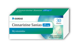 Afbeelding vanSanias Cinnarizine 25 mg 30 tabletten