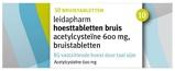 Afbeelding vanLeidapharm Hoesttabletten Acetylcysteïne 600 mg 10 bruistabletten