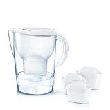 Afbeelding vanBRITA Fill & Enjoy Marella Cool Waterfilterkan 2,4 L + 3 Filterpatronen Wit