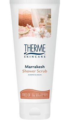 Afbeelding van 6x Therme Shower Scrub Marrakesh Almond & Argan 200 ml
