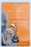 Afbeelding vanSteengoed Boeddha Sleutelhanger Hematiet (1st)