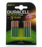 Afbeelding vanBatterij oplaadbaar Duracell 4xAAA 750mAh Plus Oplaadbare Batterijen