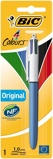 Afbeelding vanBalpen Bic 4kleuren medium blister Balpennen 4 kleuren